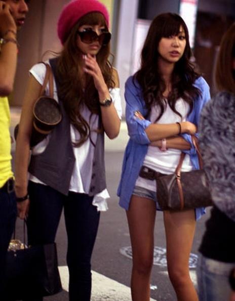 Japanese girls in public